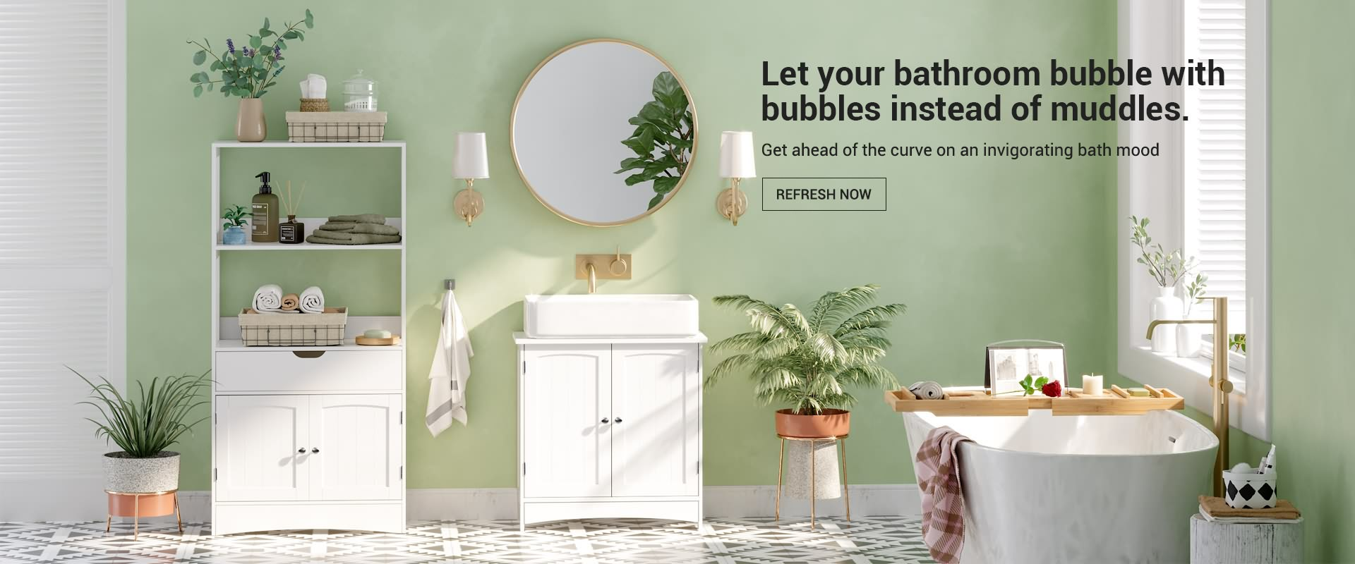 Let your bathroom bubble with joy and comfort